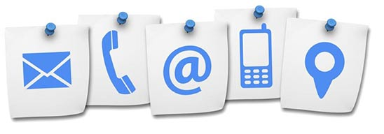 contact page icons