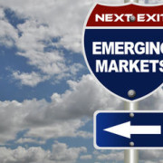 Emerging markets road sign